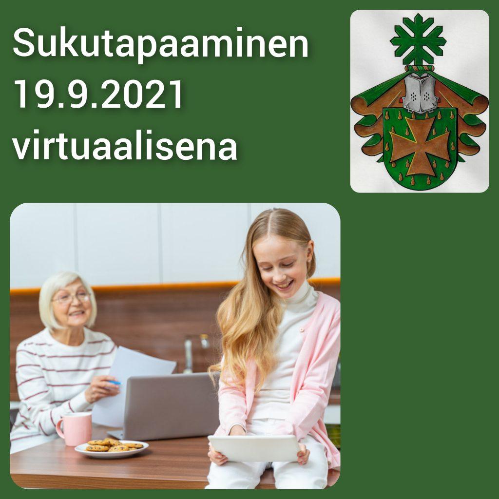Sukutapaaminen virtuaalisen 19.9.2021